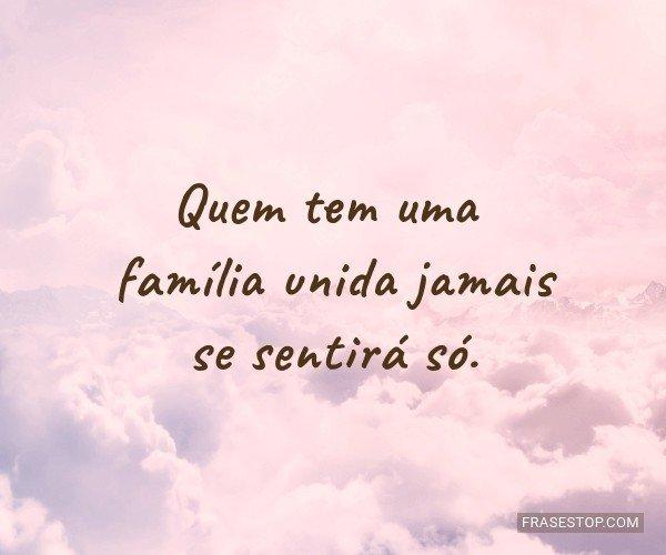 Quem tem uma família...