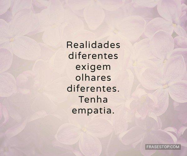 Realidades diferentes...