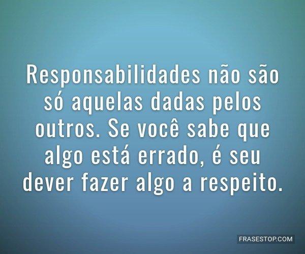 Responsabilidades não...
