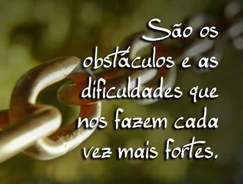 São os obstáculos e as...