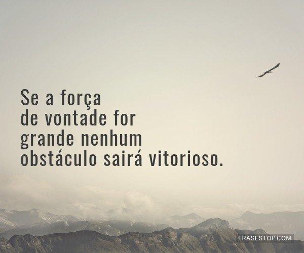 Se a força de vontade...