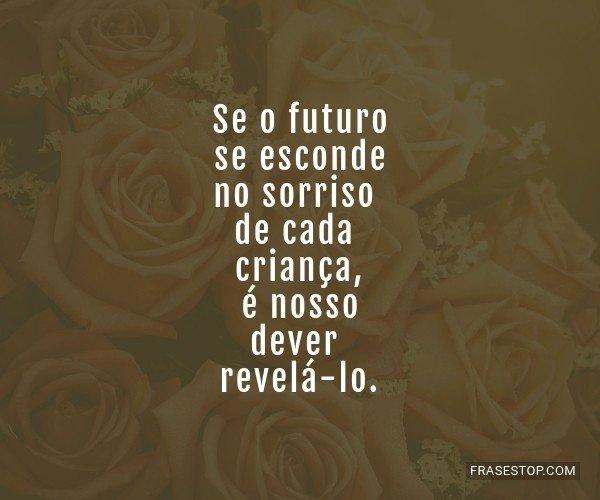 Se o futuro se esconde no...