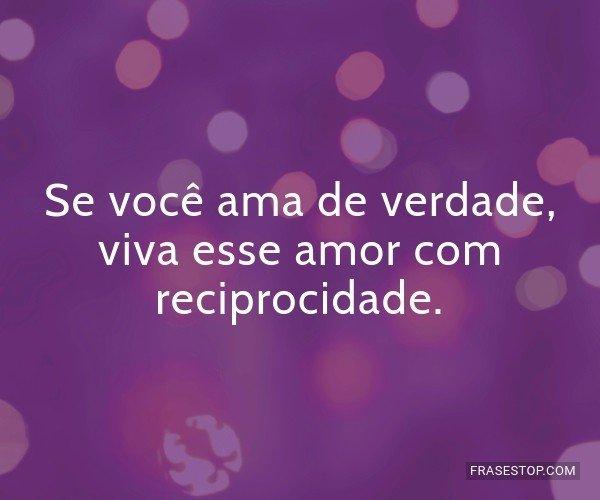 Se você ama de verdade,...