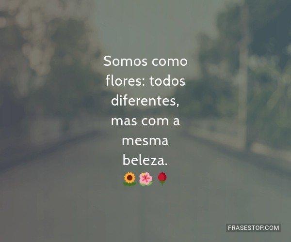 Somos como flores: todos...