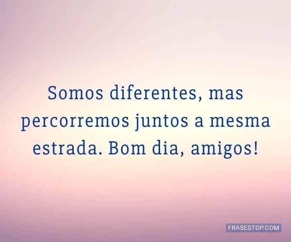 Somos diferentes, mas...