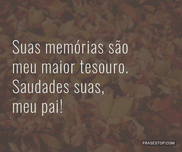 Suas memórias são meu...