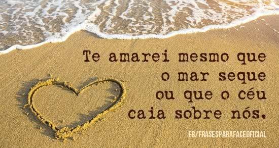 Te amarei mesmo que o mar...