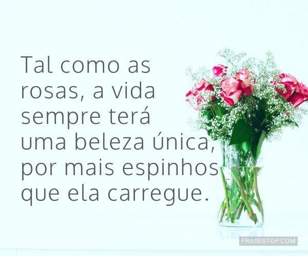 Tal como as rosas, a vida...