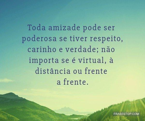 Toda amizade pode ser...