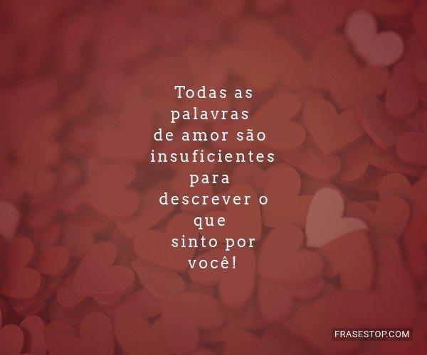 Todas as palavras de amor...