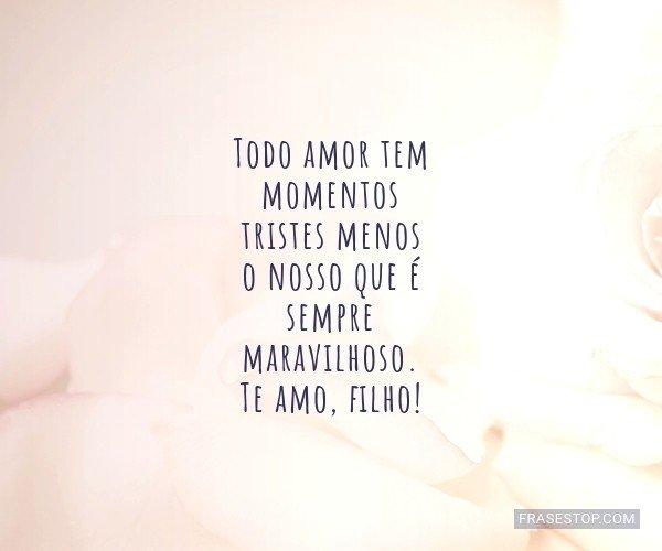 Todo amor tem momentos...