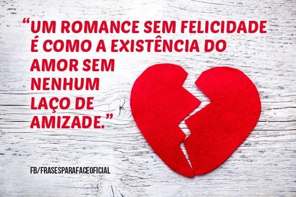 Um romance sem felicidade...
