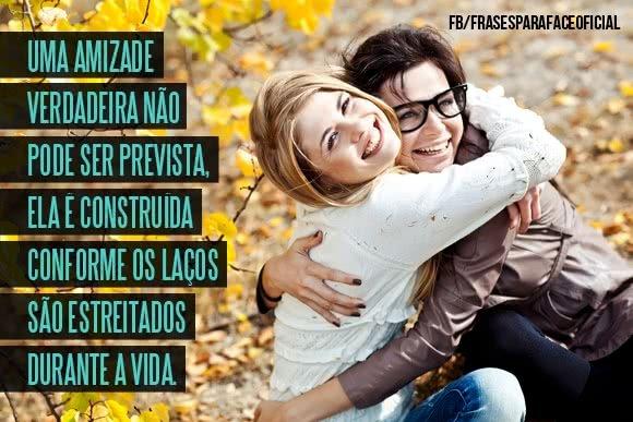 Uma amizade verdadeira...