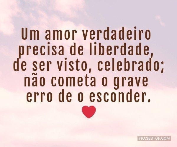 Um amor verdadeiro...