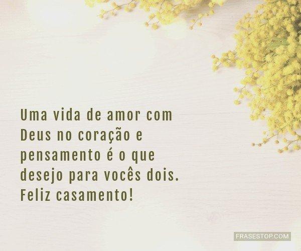 Uma vida de amor com Deus...