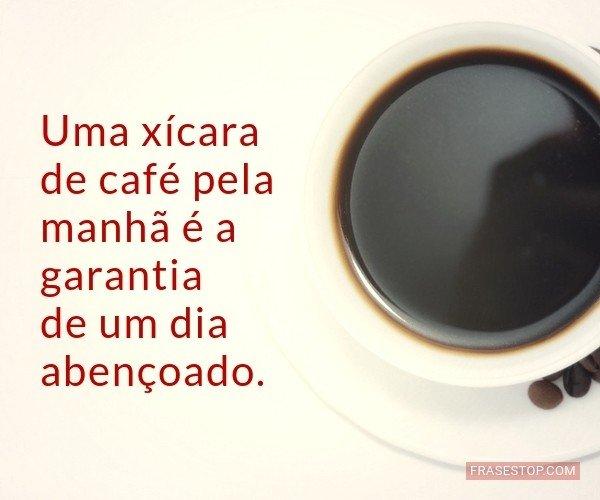 Uma xícara de café pela...