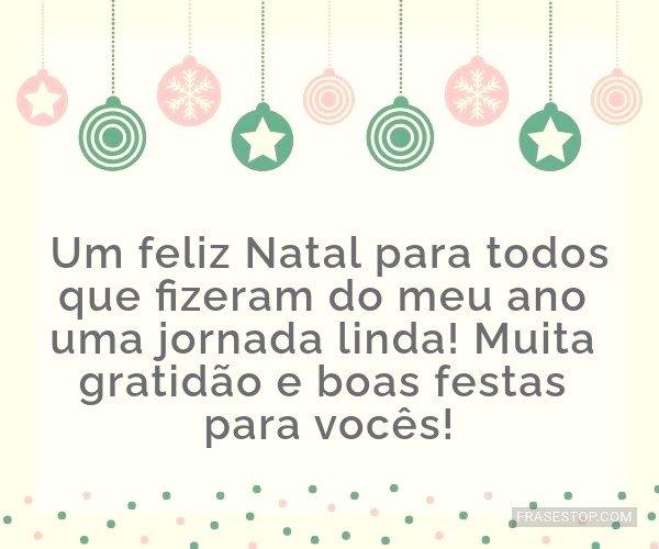 Um feliz Natal para todos...