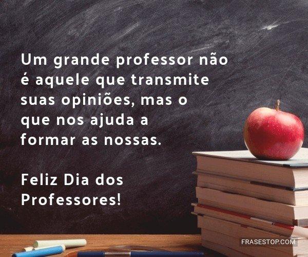 Um grande professor não...