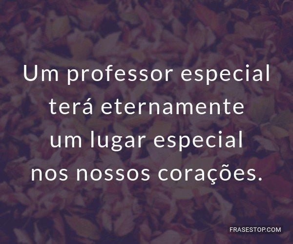 Um professor especial...