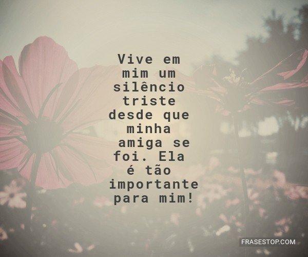 Vive em mim um silêncio...