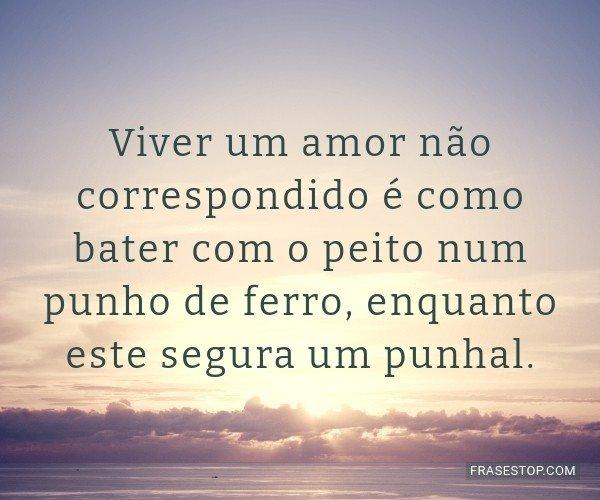 Viver um amor não...