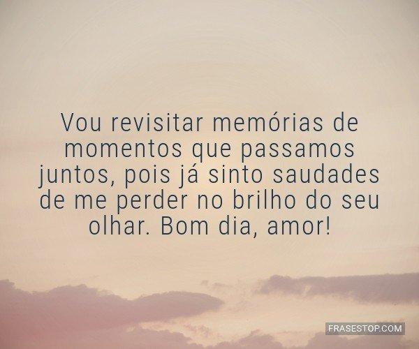 Vou revisitar memórias...