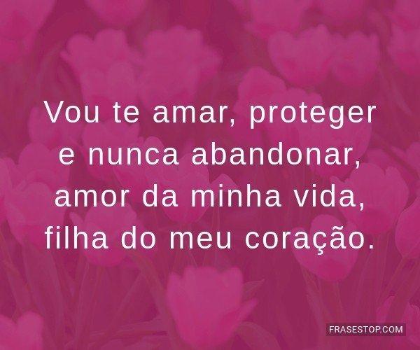 Vou te amar, proteger e...